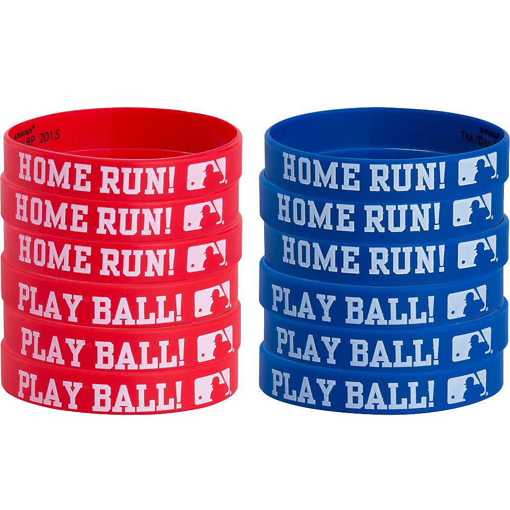 MLB Baseball Wristbands 12ct Image #1