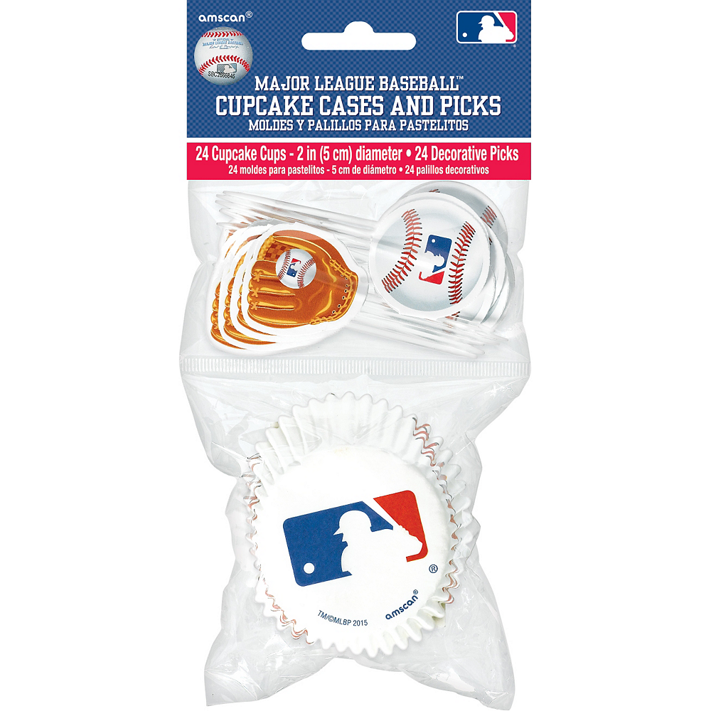 MLB Baseball Cupcake Decorating Kit for 24 Image #2