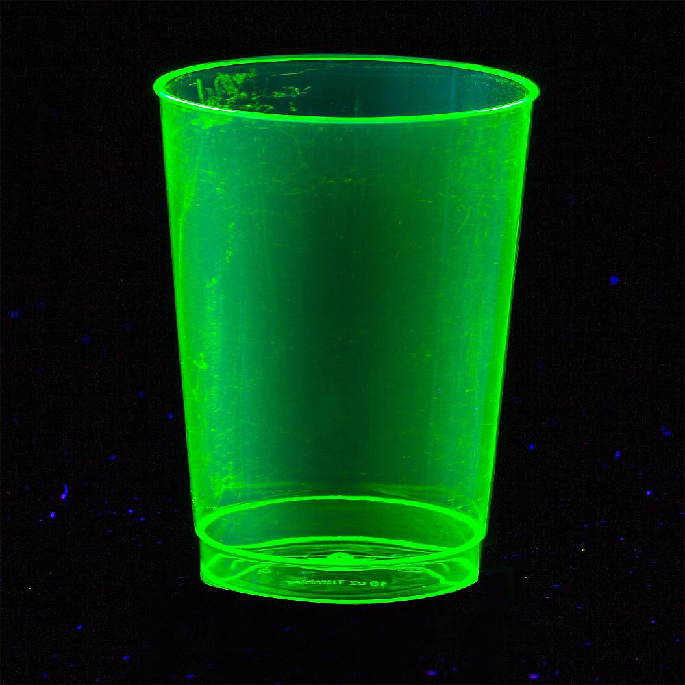 Big Party Pack Black Light Neon Plastic Tumblers 72ct Image #2