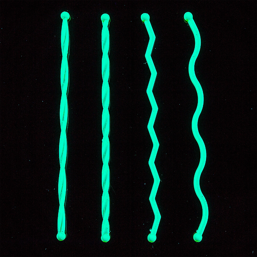 Black Light Neon Plastic Drink Stirrers 100ct Image #2