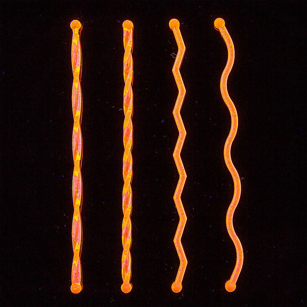 Black Light Neon Plastic Drink Stirrers 100ct Image #4