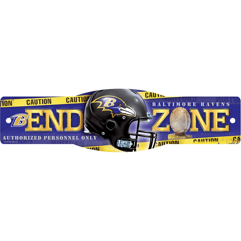 Baltimore Ravens End Zone Sign Image #1