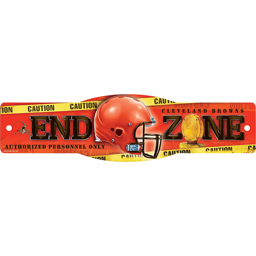 Cleveland Browns End Zone Sign Image #1