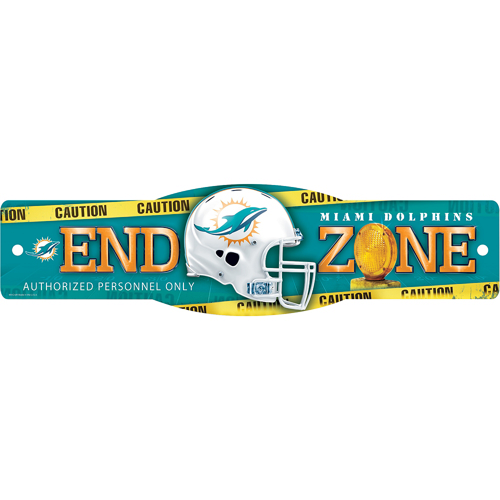 Miami Dolphins End Zone Sign Image #1