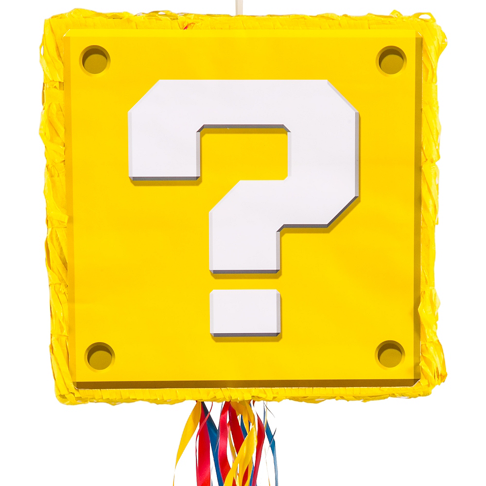 Pull String Question Block Pinata - Super Mario Image #1