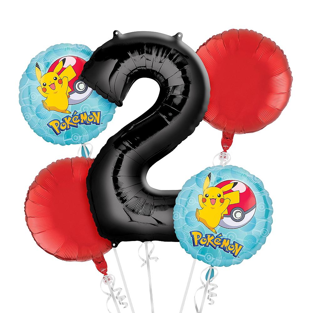 Pokemon 2nd Birthday Balloon Bouquet 5pc Image #1