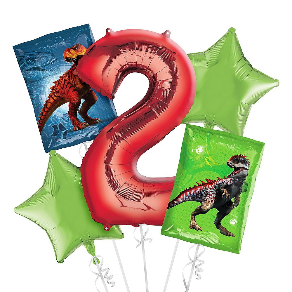 Prehistoric Dinosaurs 2nd Birthday Balloon Bouquet 5pc Image #1
