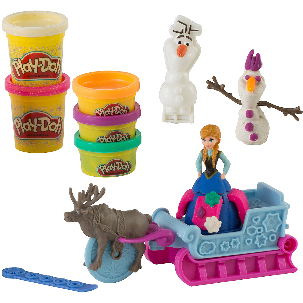 Play-Doh Frozen Sled Adventure Playset 10pc Image #1