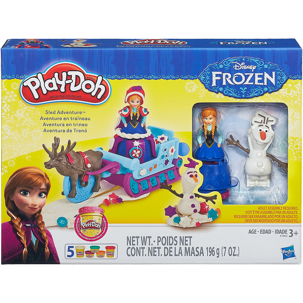 Play-Doh Frozen Sled Adventure Playset 10pc Image #2