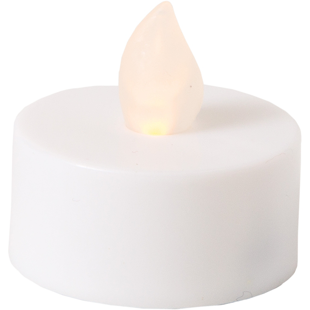 White Tealight Flameless LED Candles 12ct Image #2