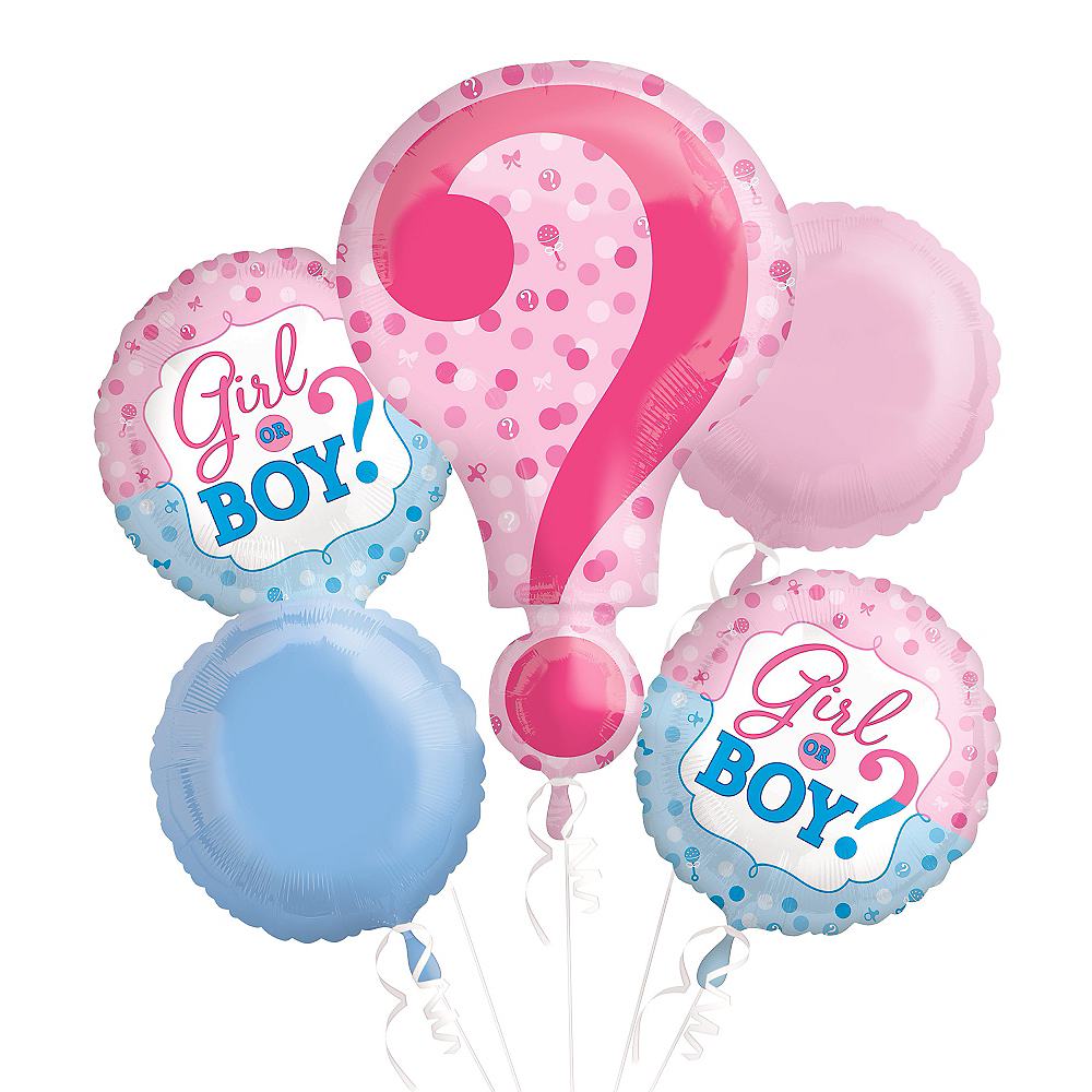 Gender Reveal Balloon Bouquet 5pc Image #2