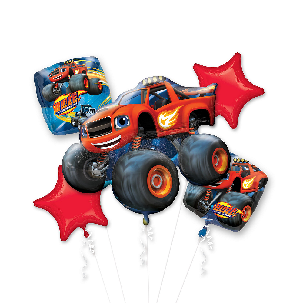 Blaze And The Monster Machines Balloon Bouquet 5pc Party City