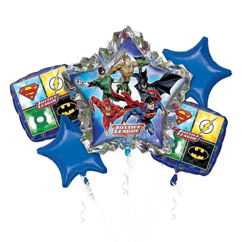 Justice League Balloon Bouquet 5pc Image #1