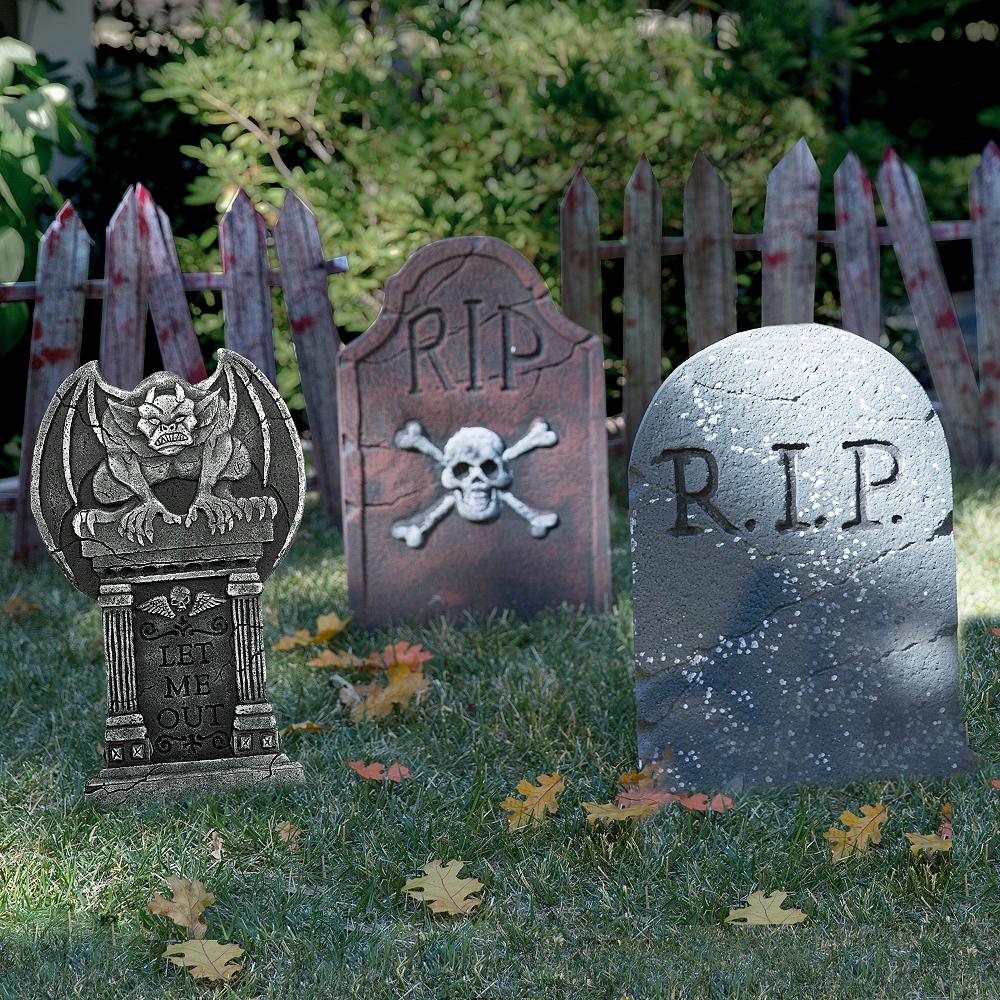 Halloween Tombstone Decorating Kit Image #1