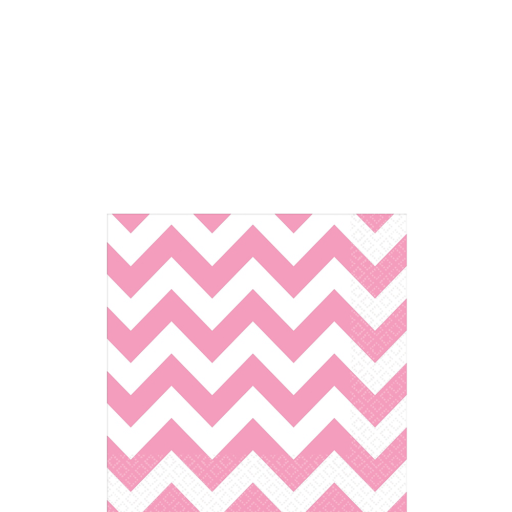 Pink Chevron Beverage Napkins 16ct Image #1