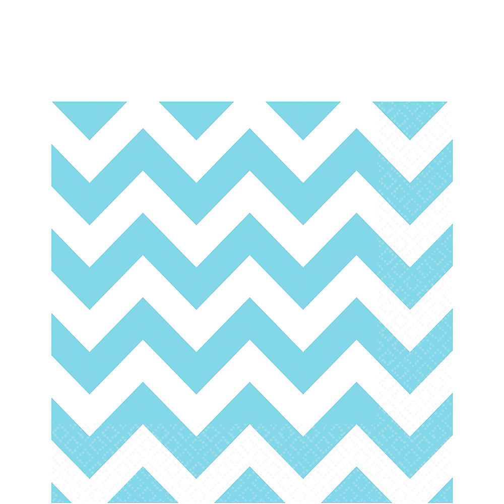 Nav Item for Caribbean Blue Chevron Lunch Napkins 16ct Image #1