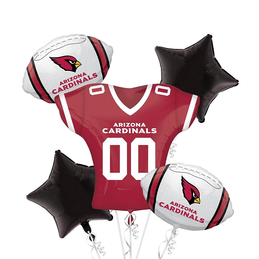 Arizona Cardinals Jersey Balloon Bouquet 5pc Image #1