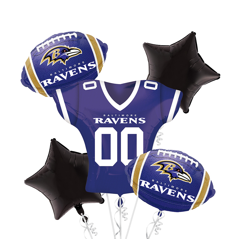 Baltimore Ravens Jersey Balloon Bouquet 5pc Image #1