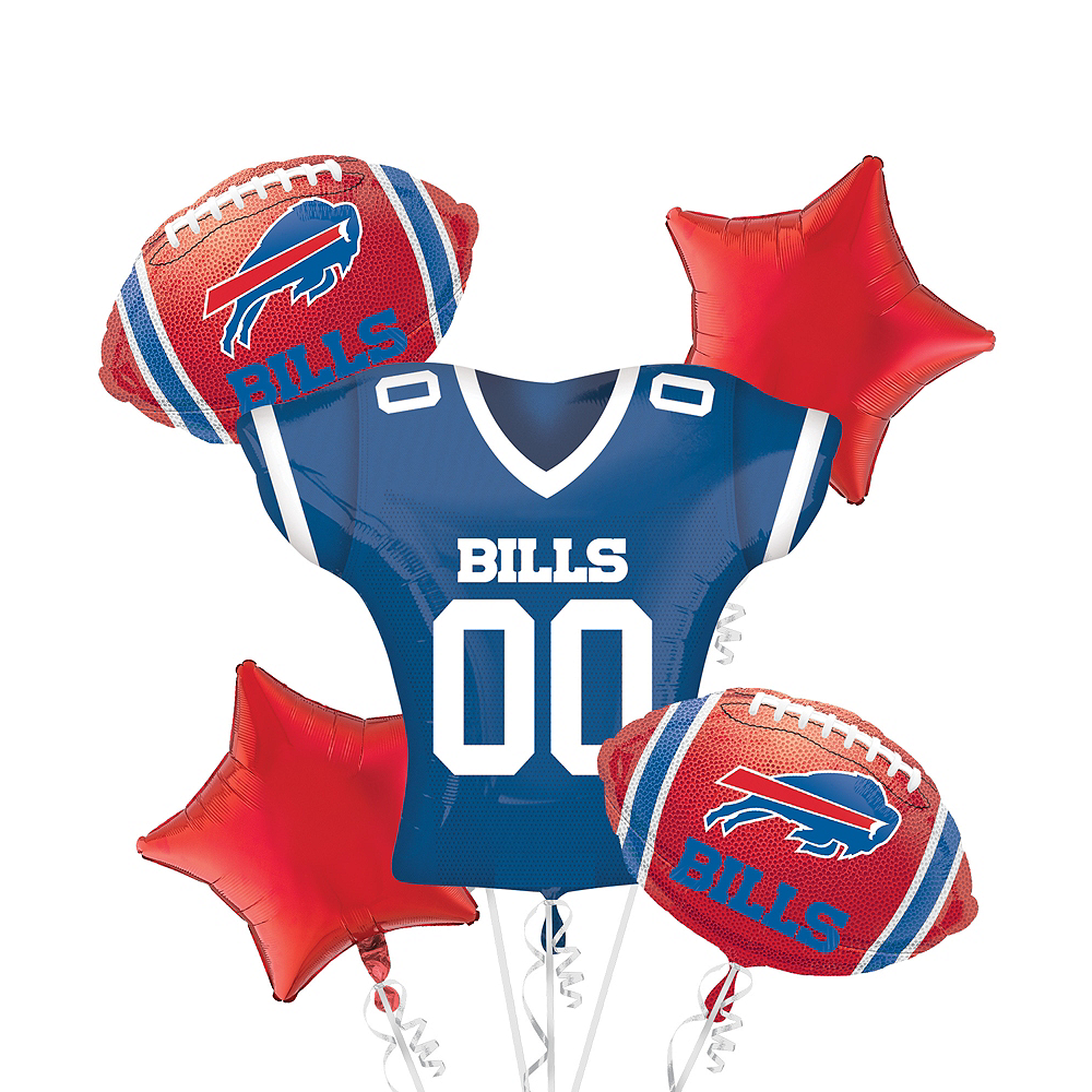 Buffalo Bills Jersey Balloon Bouquet 5pc Image #1