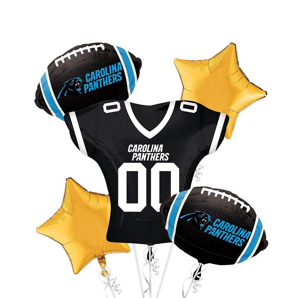 Carolina Panthers Jersey Balloon Bouquet 5pc Image #1