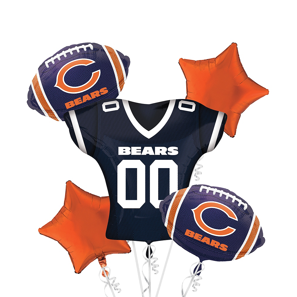 Chicago Bears Jersey Balloon Bouquet 5pc Image #1