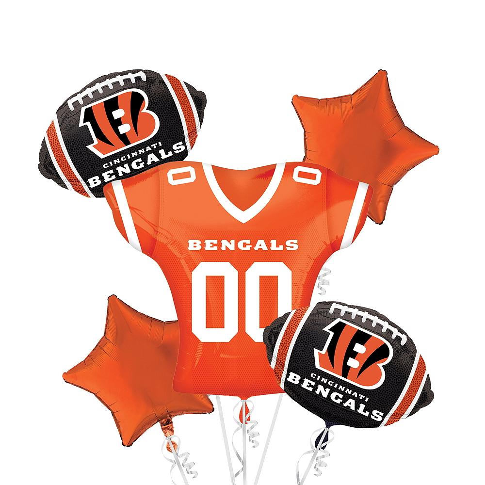 Cincinnati Bengals Jersey Balloon Bouquet 5pc Image #1