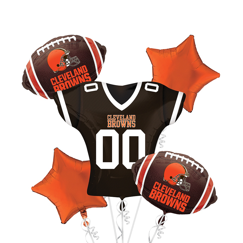 Cleveland Browns Jersey Balloon Bouquet 5pc Image #1
