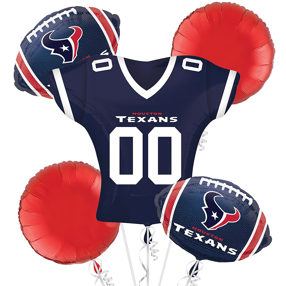 Nav Item for Houston Texans Jersey Balloon Bouquet 5pc Image #1