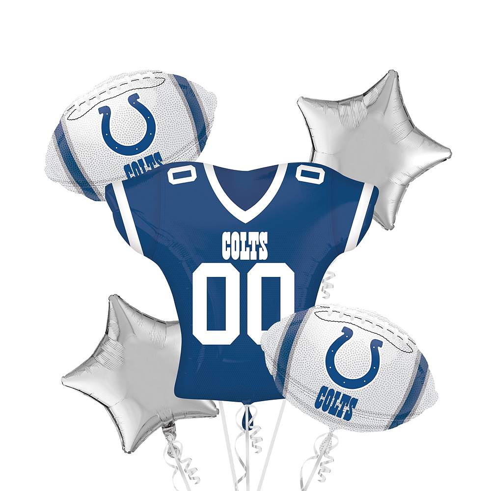 Indianapolis Colts Jersey Balloon Bouquet 5pc Image #1