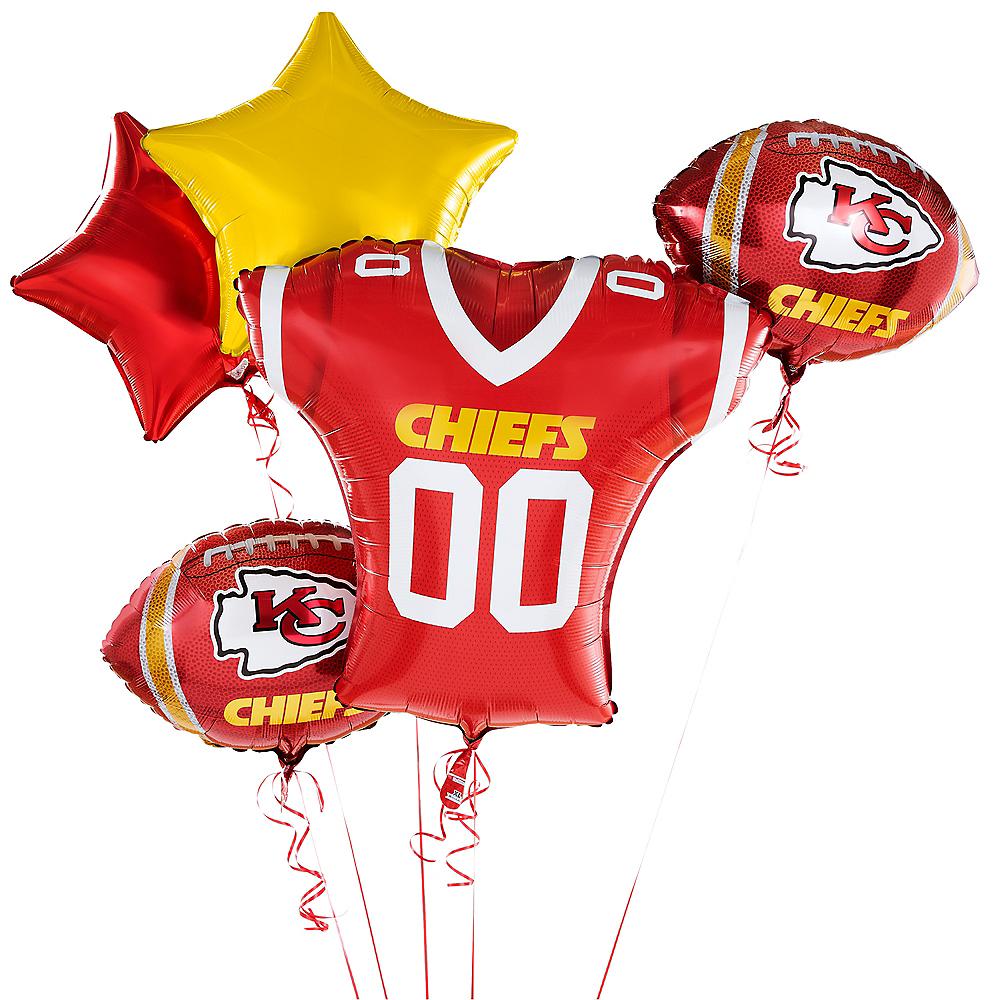 Kansas City Chiefs Jersey Balloon Bouquet 5pc Image #1