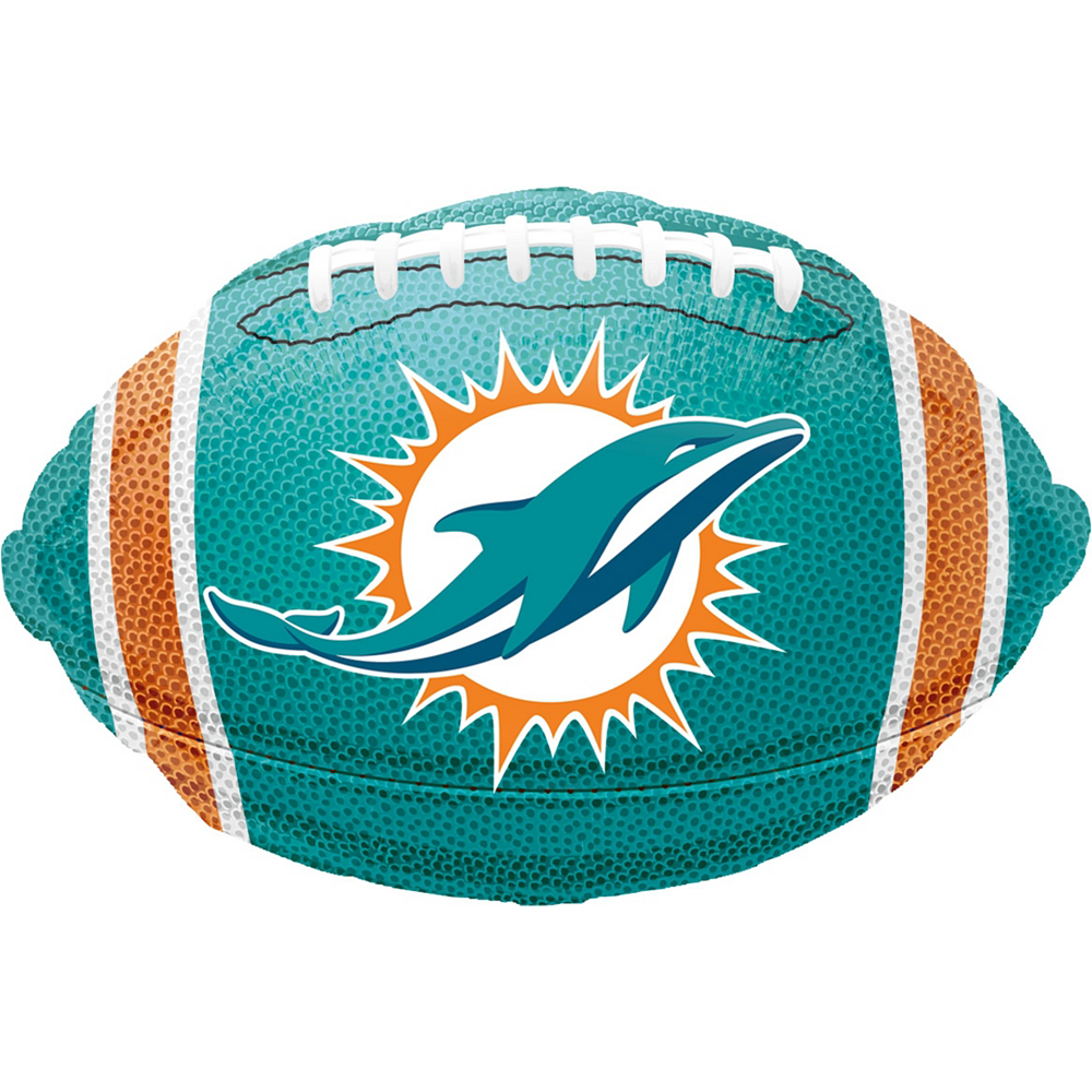 Miami Dolphins Jersey Balloon Bouquet 5pc Image #3