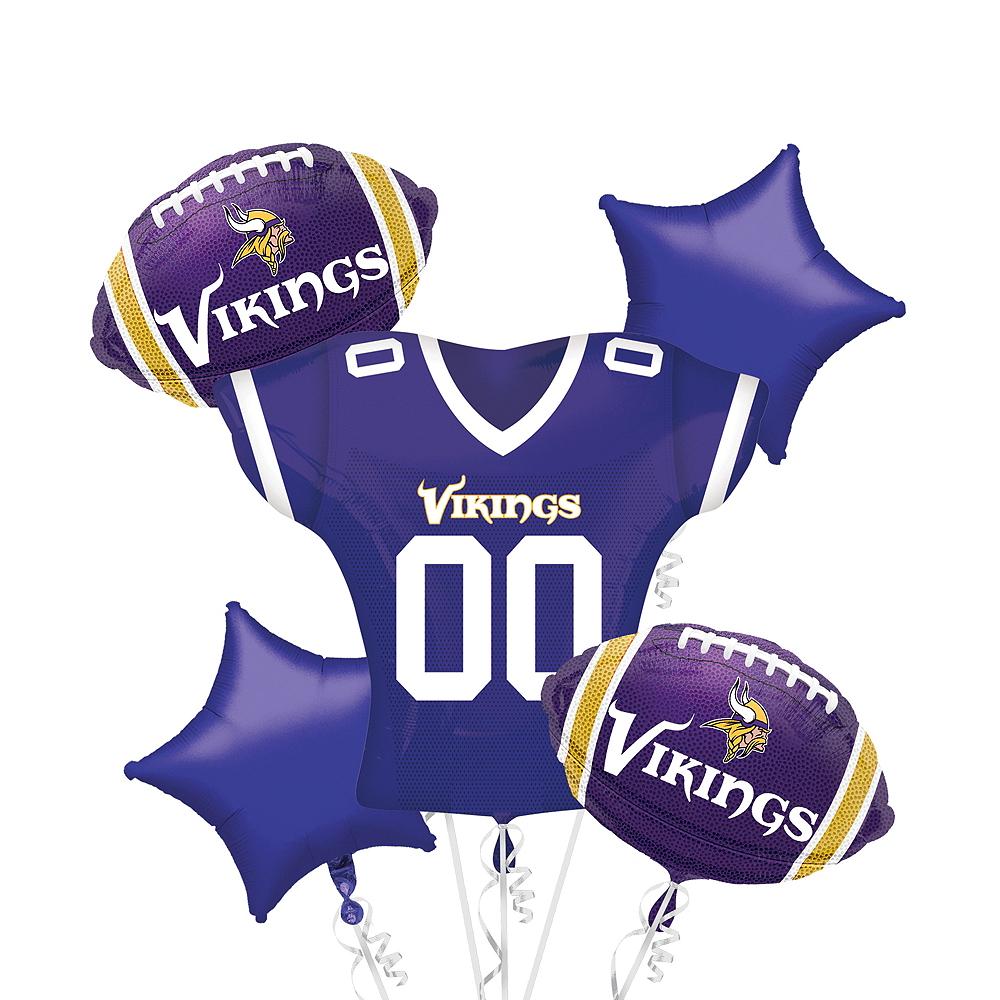 Minnesota Vikings Jersey Balloon Bouquet 5pc Image #1