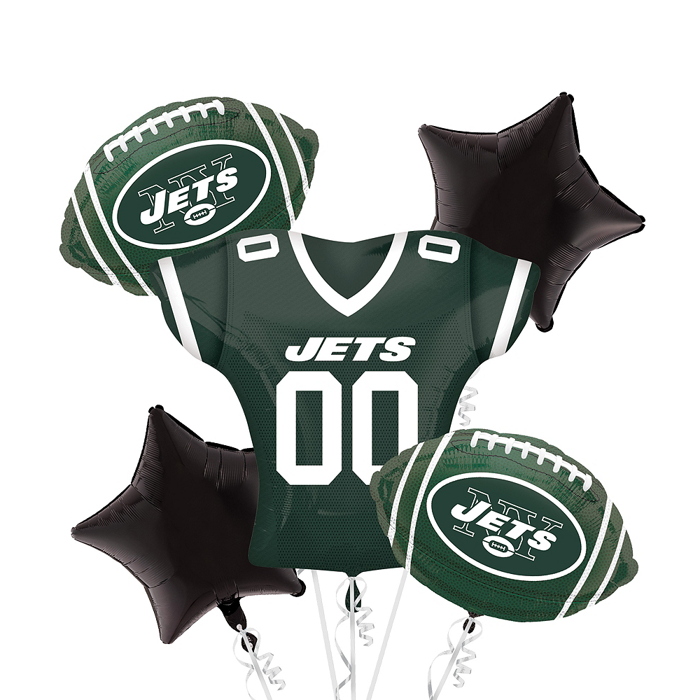 New York Jets Jersey Balloon Bouquet 5pc Image #1