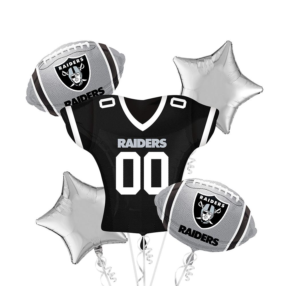 Oakland Raiders Jersey Balloon Bouquet 5pc Image #1