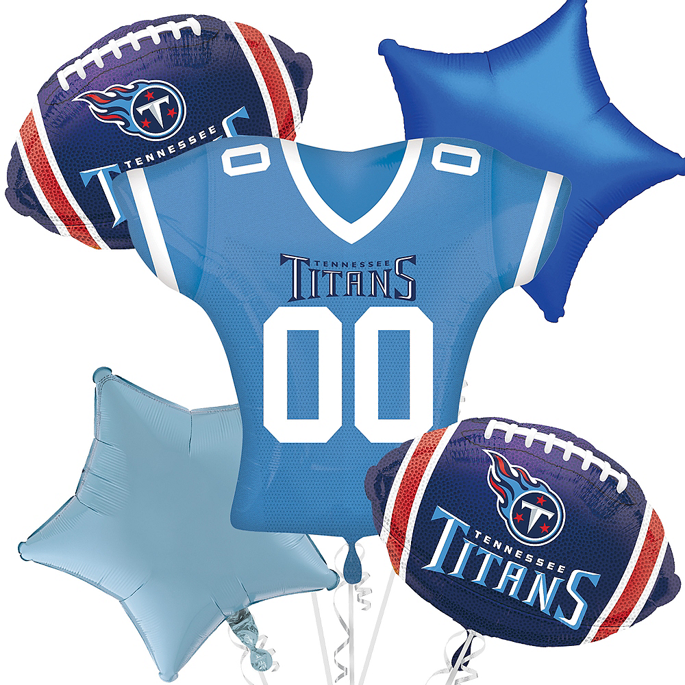 Tennessee Titans Jersey Balloon Bouquet 5pc Image #1