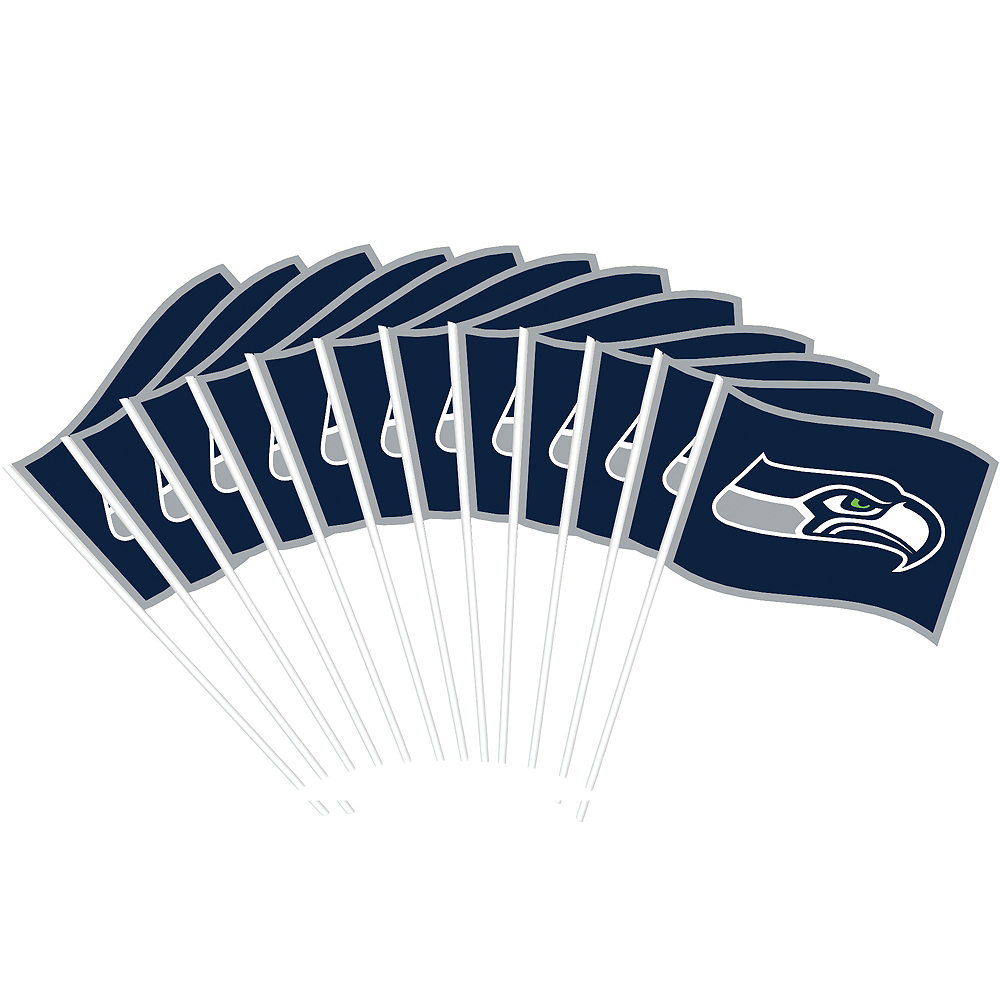Seattle Seahawks Flags 12ct Image #1