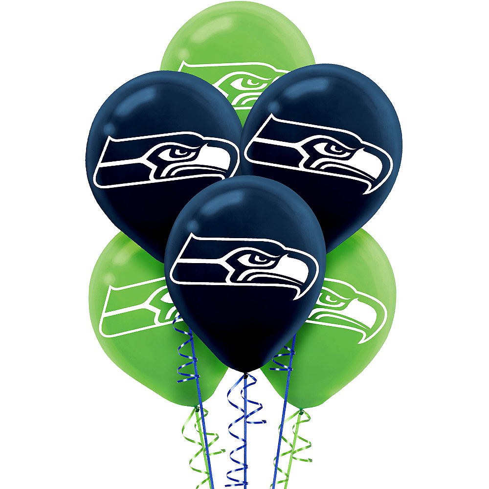 Seattle Seahawks Balloons 6ct Image #1