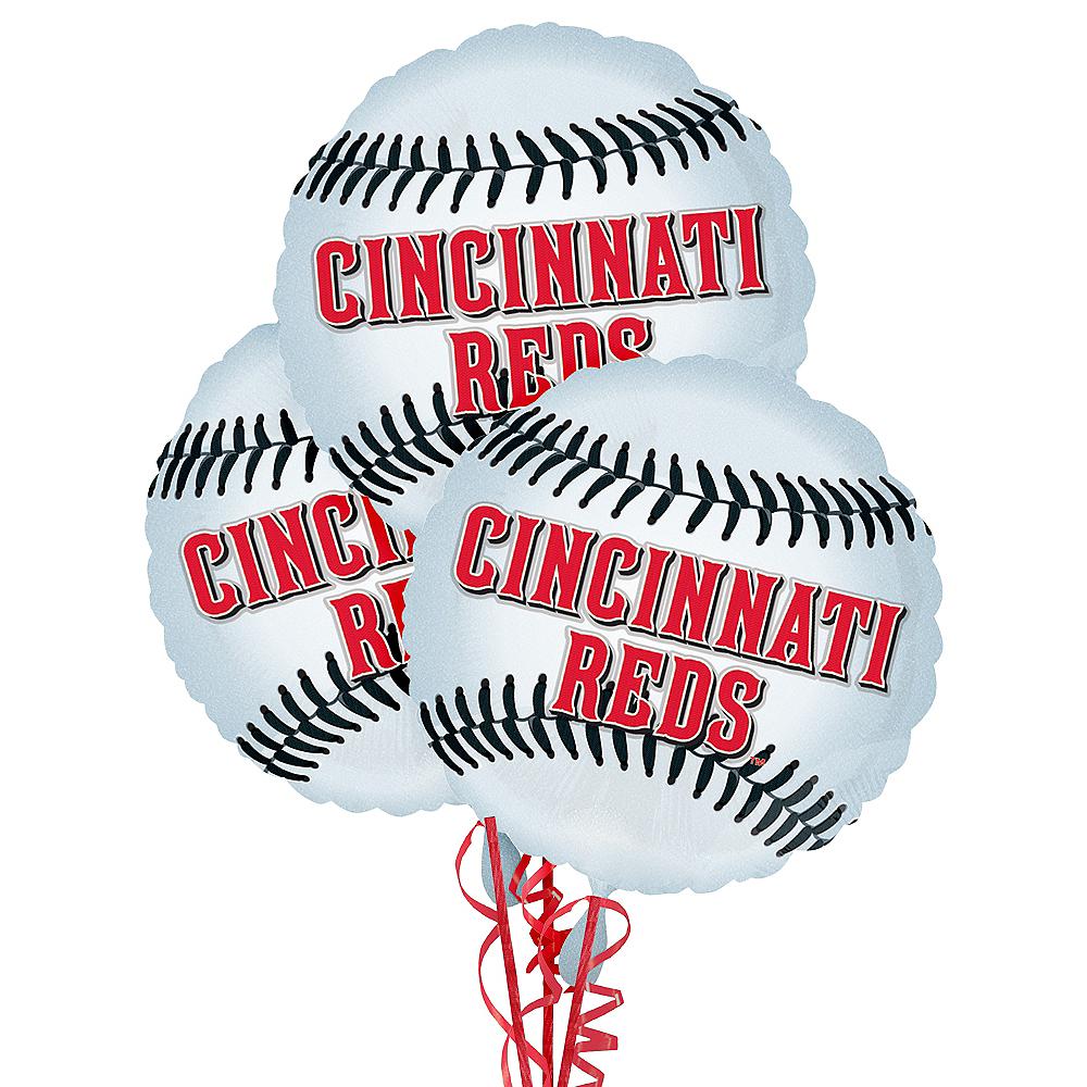 Cincinnati Reds Balloons 3ct - Baseball Image #1