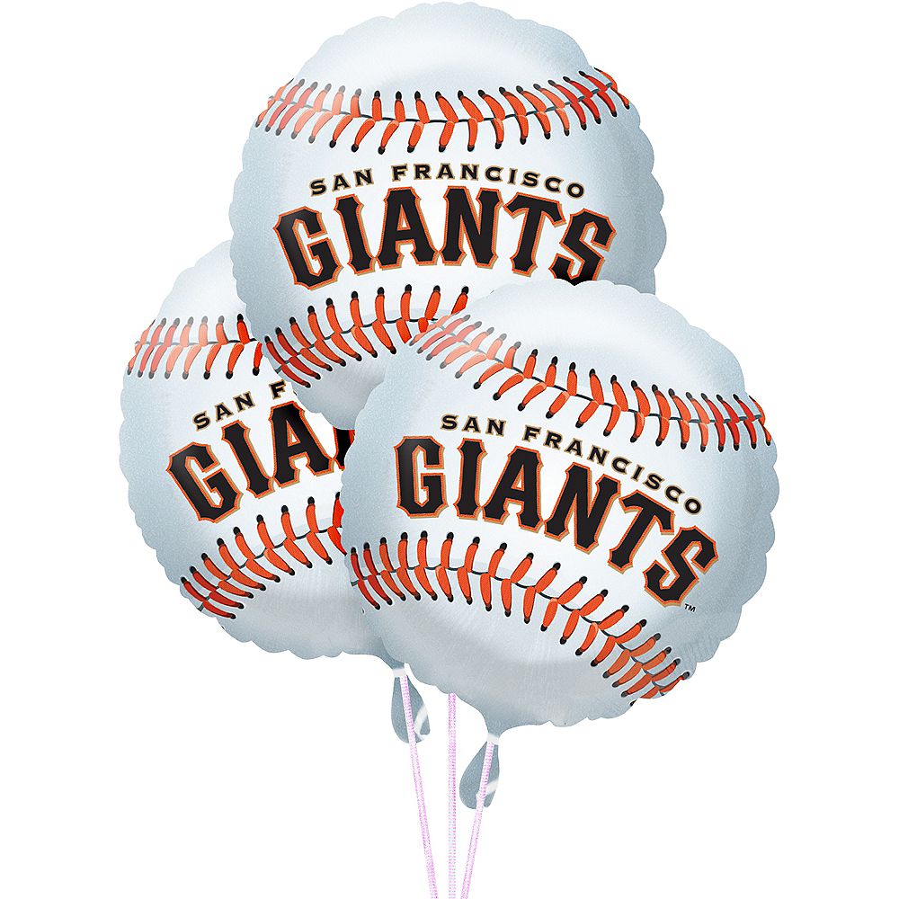 San Francisco Giants Balloons 3ct - Baseball Image #1