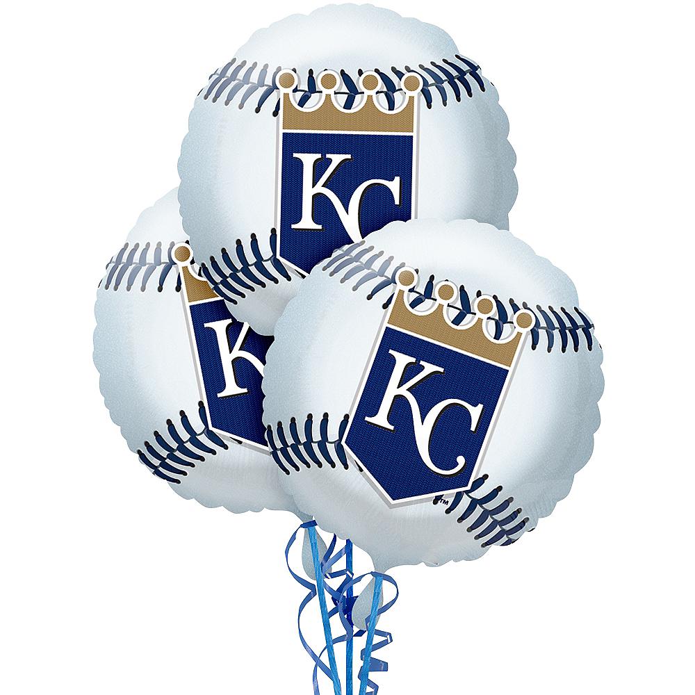 Kansas City Royals Baseball Balloons 3ct Image #1