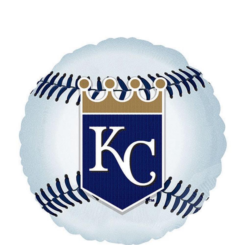 Kansas City Royals Baseball Balloons 3ct Image #2
