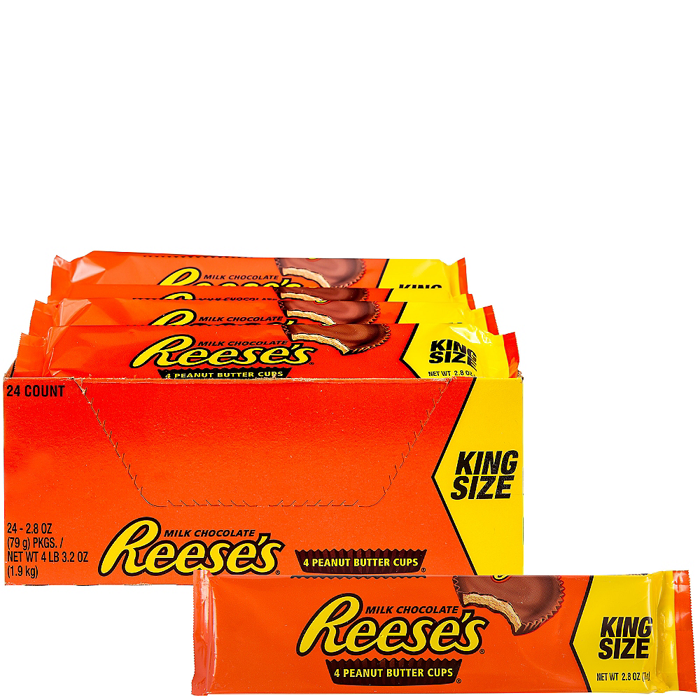 Milk Chocolate Reese's Peanut Butter Cups King Size Packs 24ct Image #1
