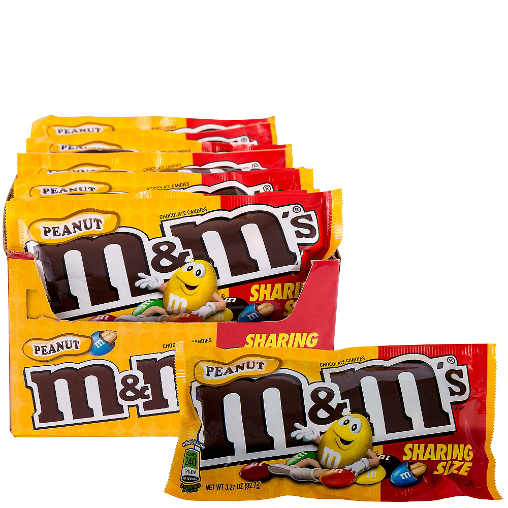 Milk Chocolate Peanut M & M's Sharing Size Pouches 24ct Image #1