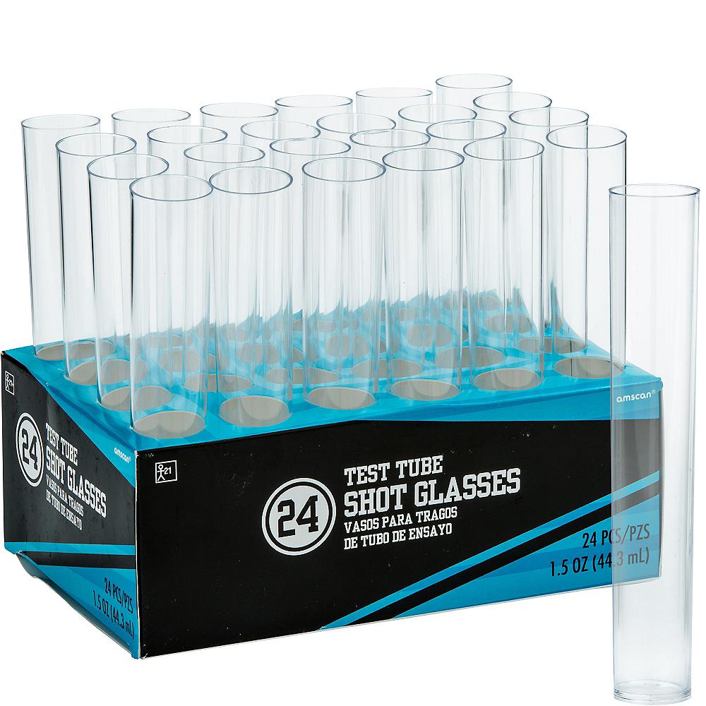 CLEAR Test Tube Plastic Shot Glasses 24ct Image #1