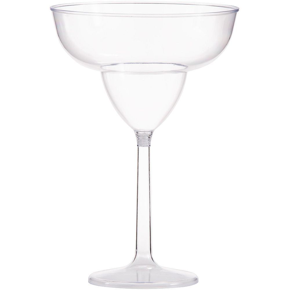 Large CLEAR Plastic Margarita Glass Image #1