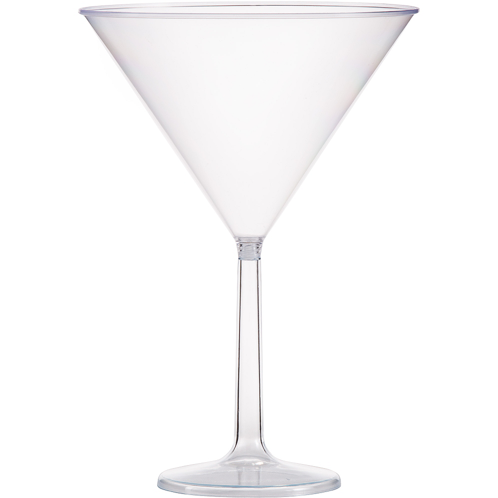 Large CLEAR Plastic Martini Glass