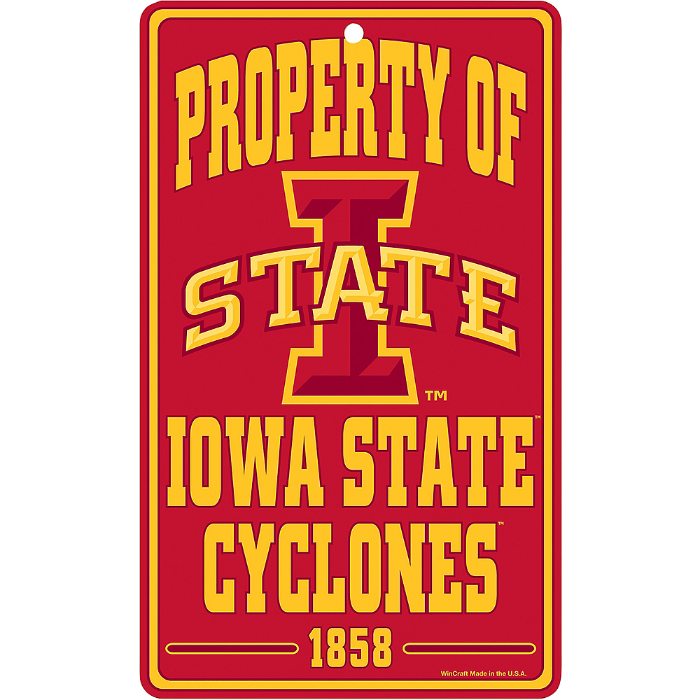 Property of Iowa State Cyclones Sign Image #1