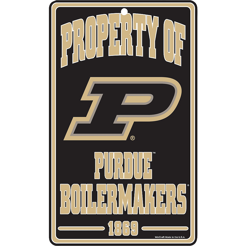 Property of Purdue Boilermakers Sign Image #1
