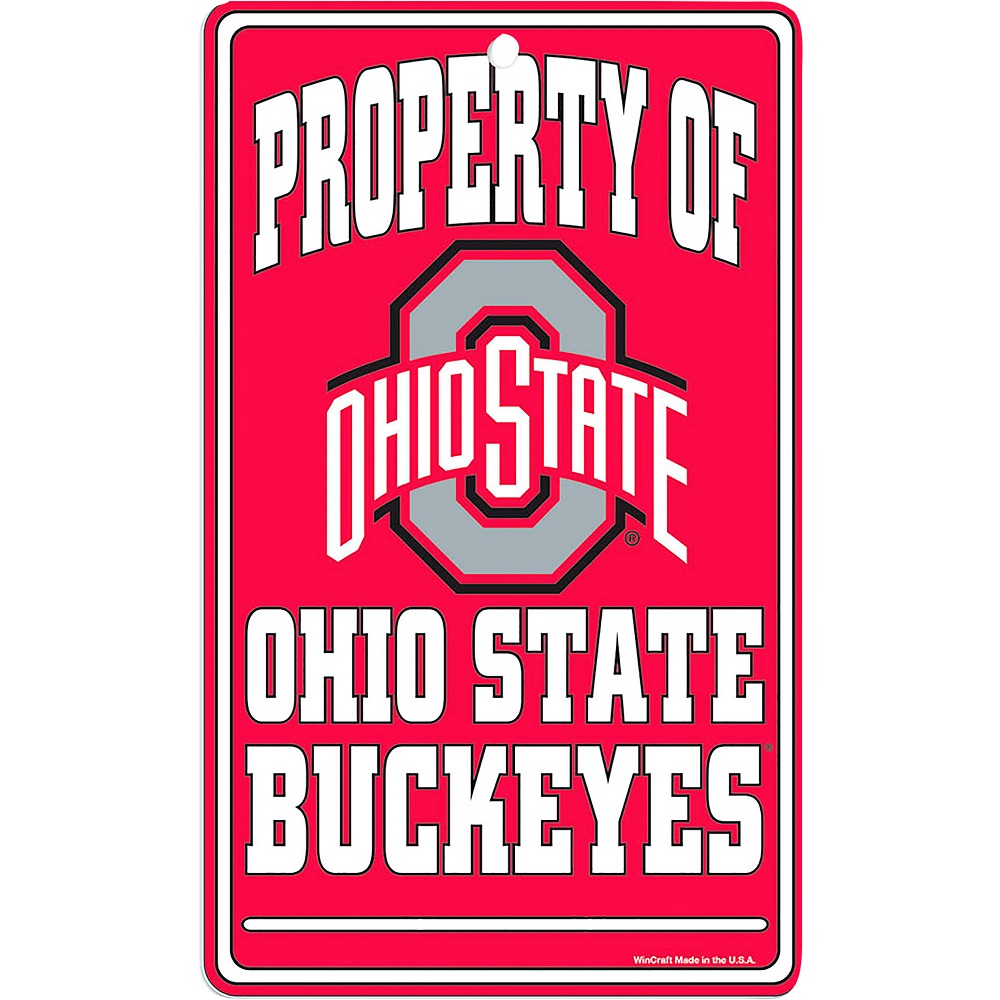 Nav Item for Property of Ohio State Buckeyes Sign Image #1
