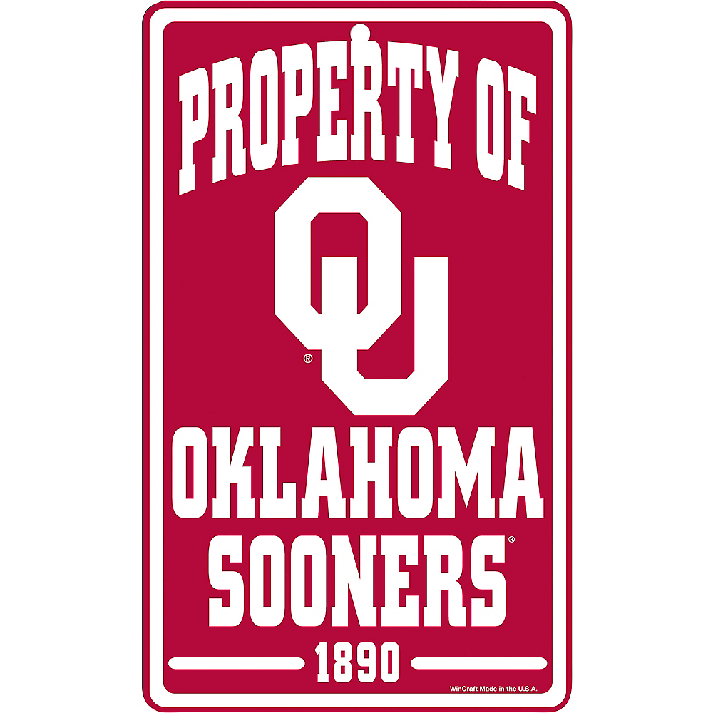 Property of Oklahoma Sooners Sign Image #1